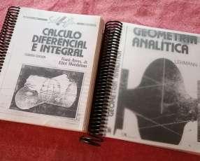 Copias de Libros de Cálculo diferencial e integral y Geometría Analítica