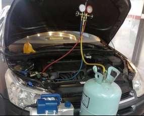 Carga de gas de aire acondicionado para coches