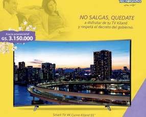 Smart tv curvo 4k Kiland 55 pulgadas