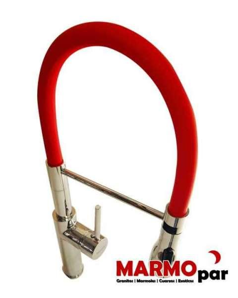 Grifo Monocomando Flexible Metalico