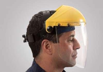 Casco con protector facial de policarbonato - 0