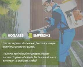 Servicio de Fumigación, agrosolución y desinfección..