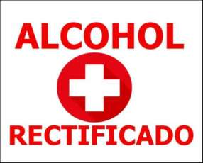 Alcohol rectificado (95°) 15.000/litro
