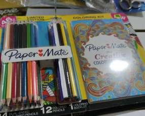 Lápices de color y mandala