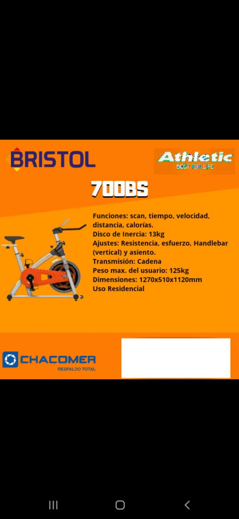 Bicicleta Spinning Athletic 700BS - 0