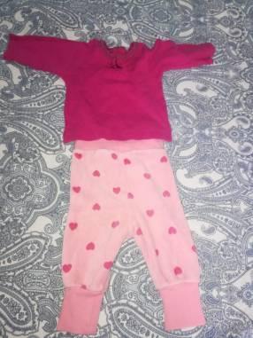 Pantalón con remerita mangas larga para nena