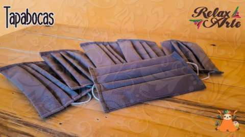 Tapabocas desechables con doble tela - 0