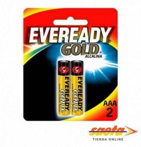 Pila alcalina Eveready AAA Gold A92-BP2