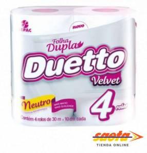 Papel Duetto Velvet NEUTRO 30M x 4 ROLLOS