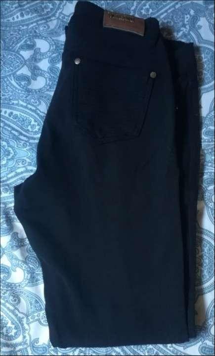 Pantalón elestizado Negro - 0