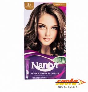 Kit crema color Nantyr rubio ceniza claro 8.1