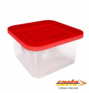 Caja recipiente Kendyploc cuadrada mediana n°2 con tapa 15030