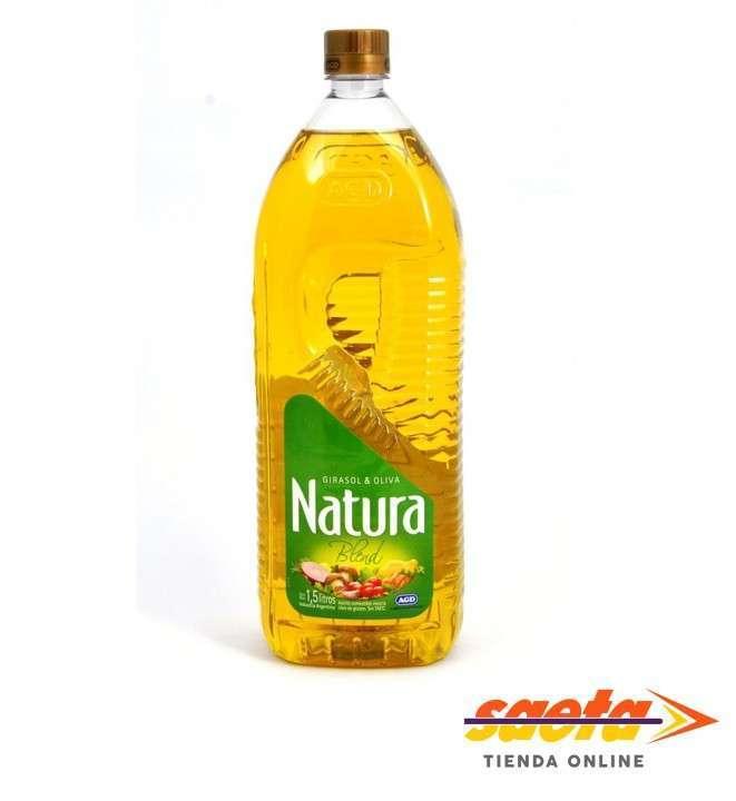 Aceite Natura girasol y oliva 1,5 litros - 0