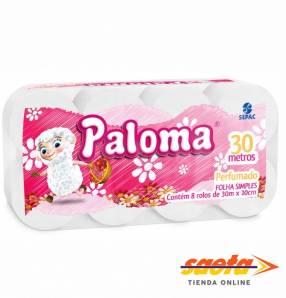 Papel higiénico Paloma perfumado 8 unidades