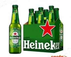 Cerveza Heineken botellita 330ml pack x 6