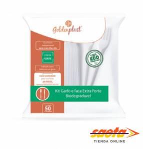Tenedor para comida BL plástico biodegradable 50 unidades