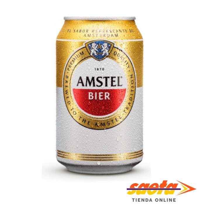 Cerveza Amstel Premium lata 330cc x 6 unidades - 0