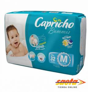 Pañal Capricho Bummis Jumbo M 32 unidades