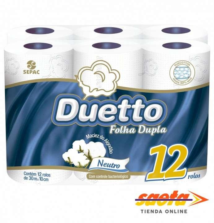 Papel Higienico Duetto neutro doble hoja 30M X 12 unidades - 0