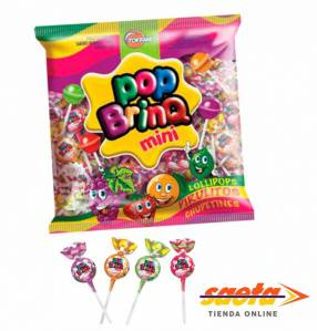 Chupetin pop brinq mini surt frutas 600 gramos