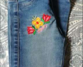 Jeans Floreada