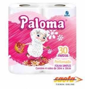 Papel higiénico Paloma perfumado 4 rollos