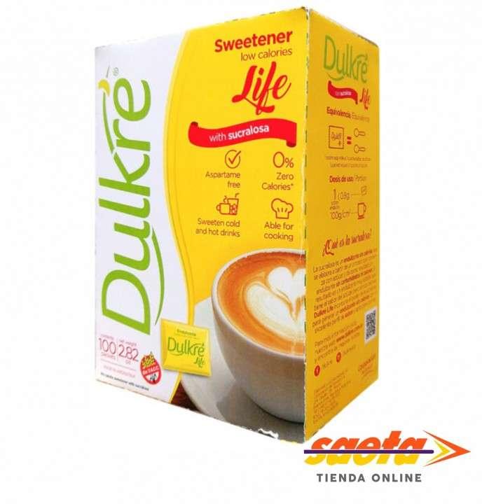 Edulcorante Dulkre sucralosa 100 sobres de 0.8 gramos - 0