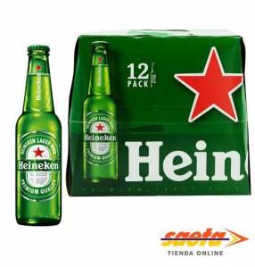Cerveza Heineken holandesa 650 ml pack x 12 unidades