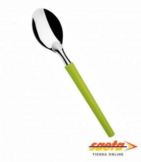 Cuchara para postre mango verde Di Solle Millenium 12 unidades