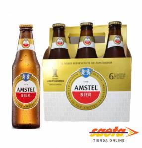 Cerveza Amstel botella 355cc x 6 unidades