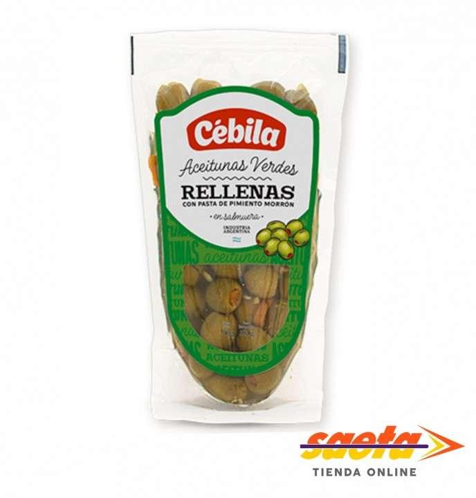 Aceitunas verdes rellenas Cébila 180 gramos - 0