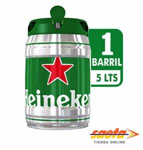 Cerveza Heineken barrilito 5 litros