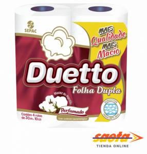 Papel Higiénico Duetto Doble Hoja 30M Perfumado x4R