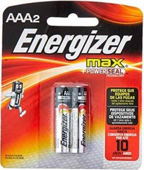Pilas Alcalinas Energizer Max AAA Pack x 2 unidades