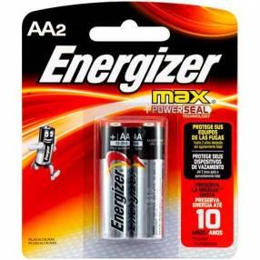 Pilas Alcalinas Energizer Max AA Pack x 2 unidades