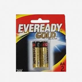 Pilas Alcalina Eveready AA Pequeñas Gold A91-BP1