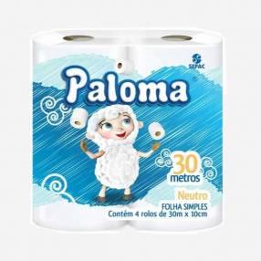 Papel Higiénico Paloma Neutro x 4