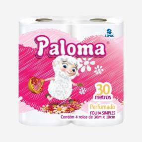 Papel Higiénico Paloma Perfumado x 4
