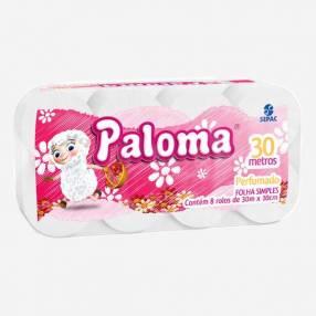 Papel Higiénico Paloma Perf x 8