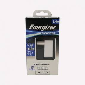 Cargador Pared Energizer 3,2AMP 2USB S/Cable
