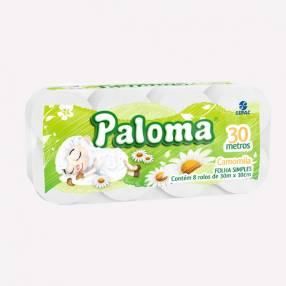 Papel Higiénico Paloma Camomila x8