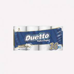 Papel Duetto Doble Hoja Neutro x 16