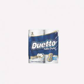 Papel Higienico Duetto Cubo Neutro x 8