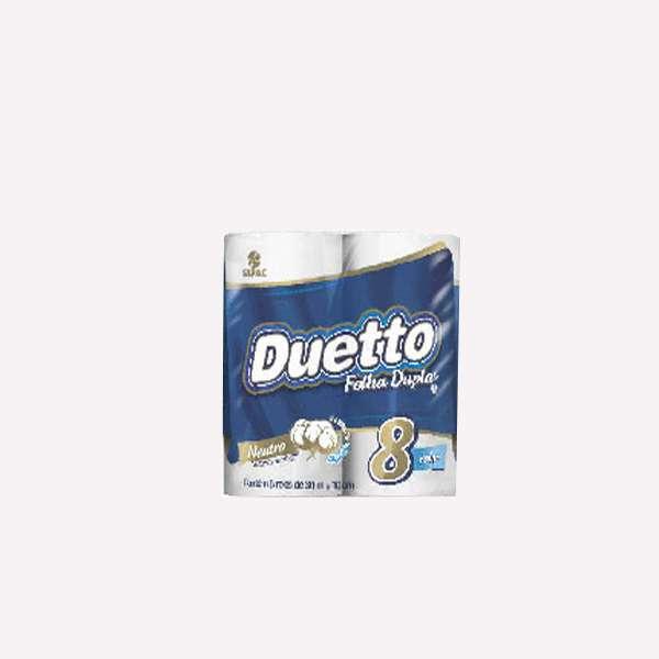 Papel Higienico Duetto Cubo Neutro x 8 - 0