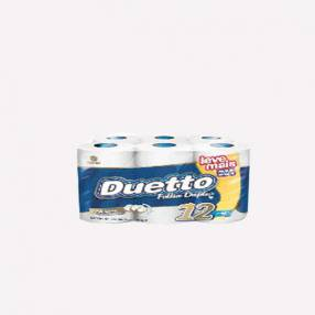 Papel Higienico Duetto neutro doble hoja 12 unidades
