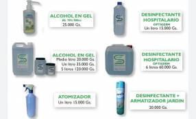 Productos de desinfección y Limpieza