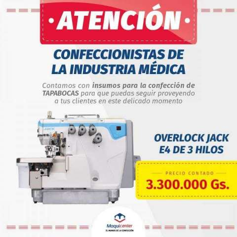 Maquina de coser industrial overlock Jack E4