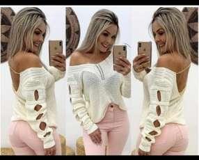 Blusa tricot adaptable hasta G