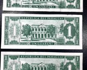 Billete de 1 Guaraní serie A 1952