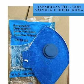 Tapabocas PFF1 con válvula